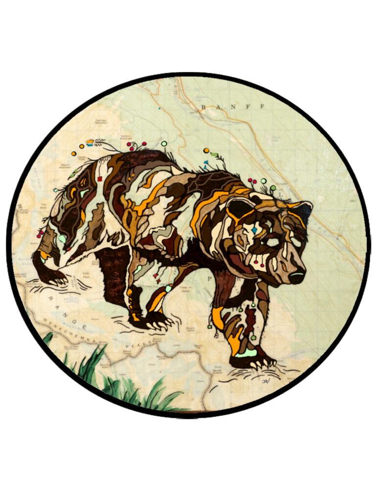 Outpost Bear Sticker